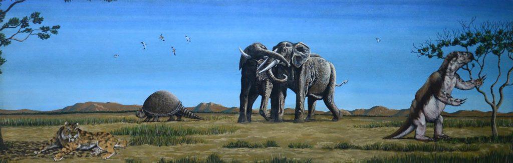 Os animais chamam atenção pelas grandes proporções — Foto: Ilustração: Ariel Milani Martine/Museu Joias da Natureza